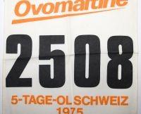 Startnummer des Schweizer 5-Tage OL's 1975